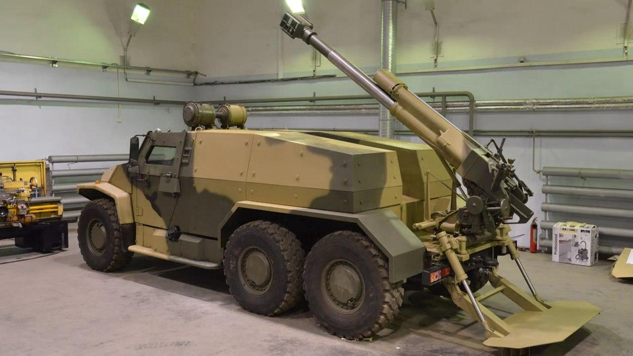 120-Мм самоходное орудие на шасси «волка»