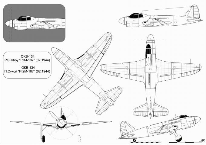 Альтернативные дальние истребители сопровождения су-5 (и-2м-107). ссср