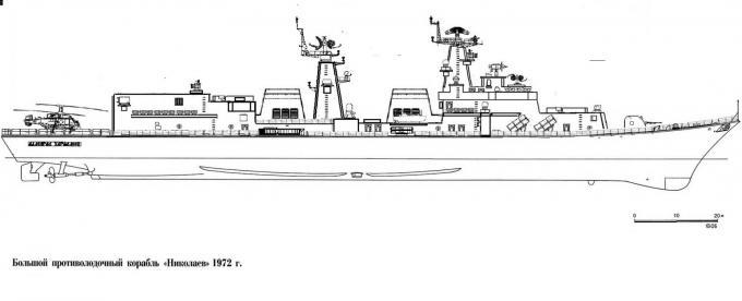 Альтернативный большой противолодочный корабль пр. 1153