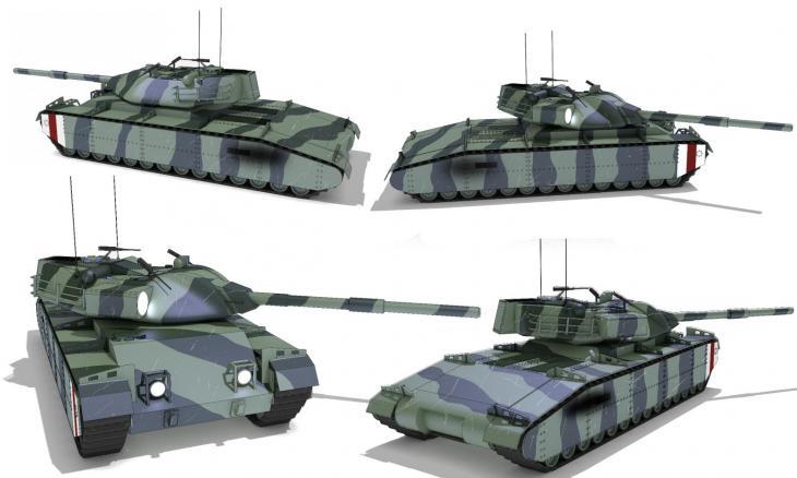 Альтернативный британский сверхтяжёлый танк a51 cathaphract