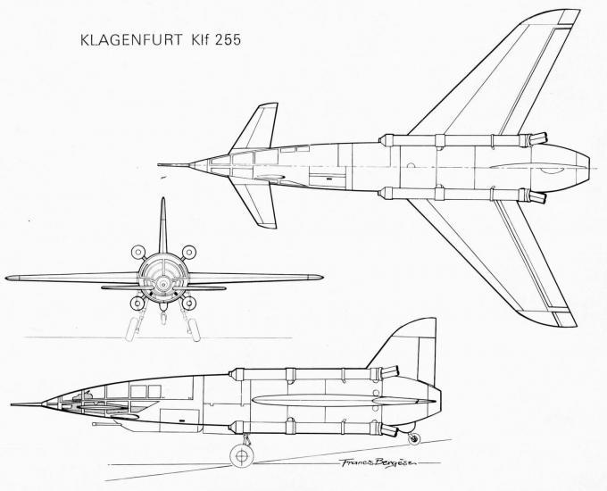 Альтернативный опытный ракетный перехватчик klagenfurt klf 255. германия