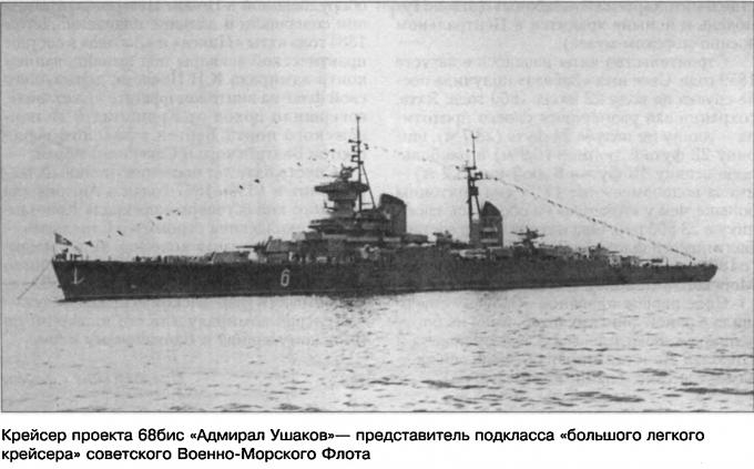 Аванпроект малого легкого крейсера