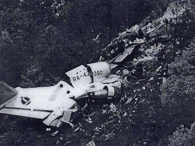 Авиакатастрофа як-42 близ салоник. 1997