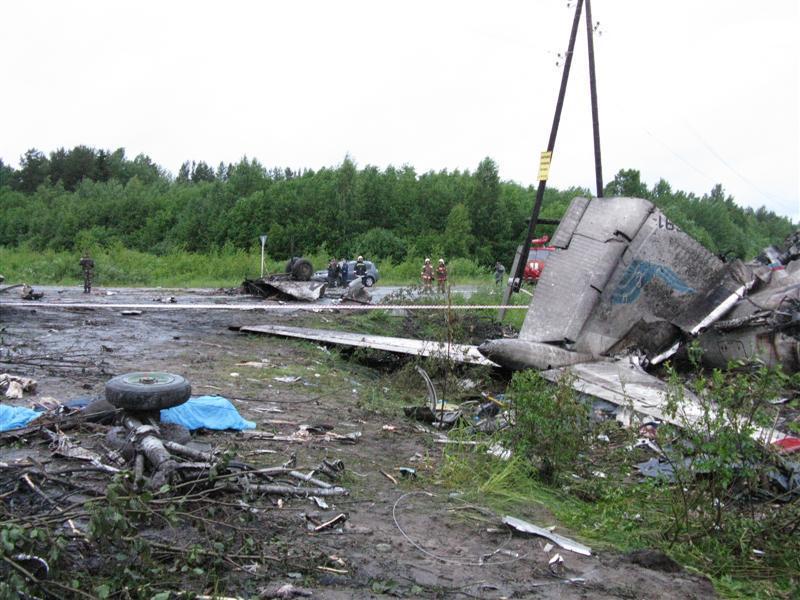 Авиакатастрофа ту-134а в аэропорту самара. 2007