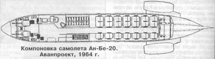 Ближнемагистральный пассажирский самолет ан-бе-20 (проект).