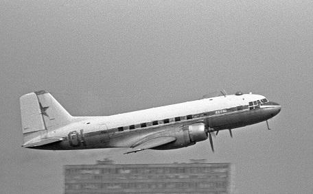 Ближнемагистральный пассажирский самолет ил-14.