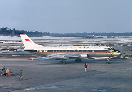 Ближнемагистральный пассажирский самолет ту-124.