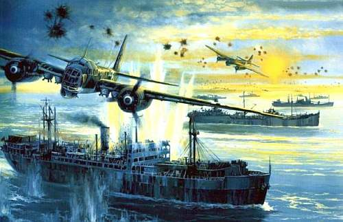Боевые действия авиации северного флота по защите конвоев