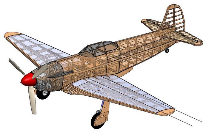 Бумажная летающая модель копия самолета-истребителя «як»