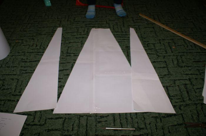Бумажная модель копия реактивного самолета «миг-15»