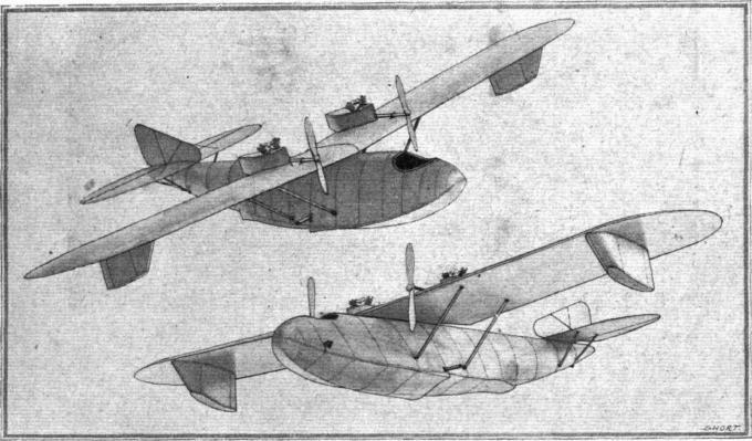 Цельнометаллическая легкая летающая лодка short brosthers с двумя двигателями biackburne объемом 696 см?. великобритания
