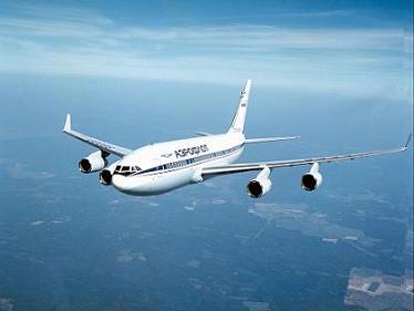 Дальнемагистральный пассажирский самолет ил-96.