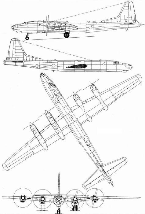 Дальний бомбардировщик ту-80.