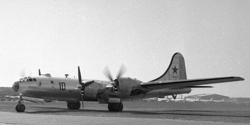 Дальний стратегический бомбардировщик ту-4.