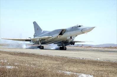 Дальний сверхзвуковой бомбардировщик ту-22м3.