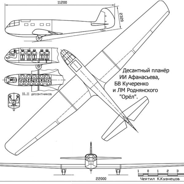 Десантно-транспортный планер «орел».