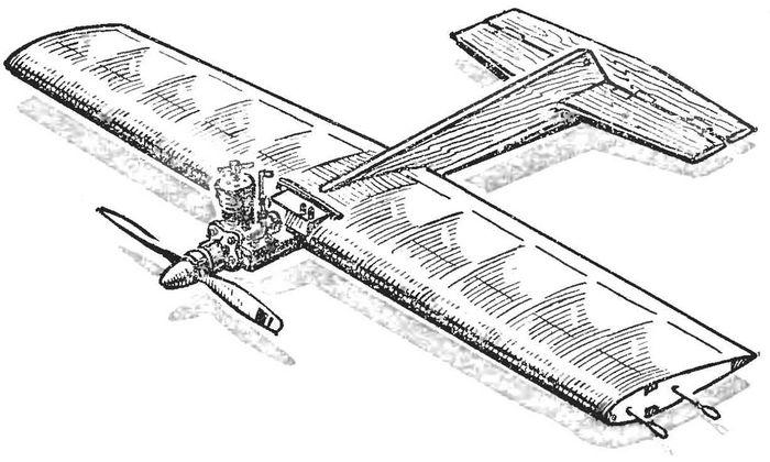 Две необычные кордовые модели самолета для воздушного боя