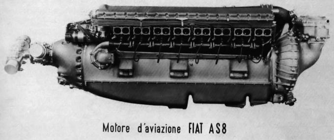 Двигатель fiat as.8 и проект рекордного самолета cmasa cs.15. италия