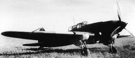 Двухместный штурмовик ил-2.