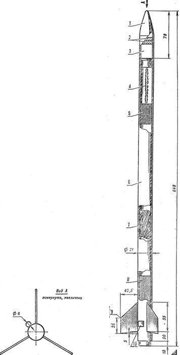 Двухступенчатая модель ракеты класса s1b