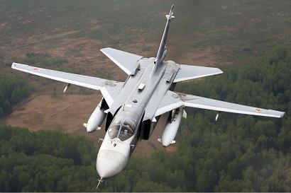 Фронтовой бомбардировщик су-24м.