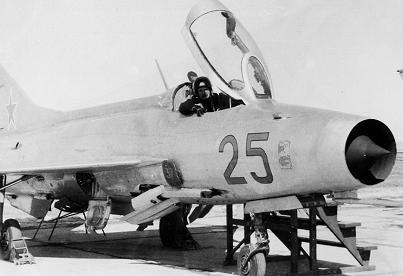 Фронтовой истребитель миг-21ф-13.
