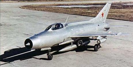 Фронтовой истребитель миг-21ф.