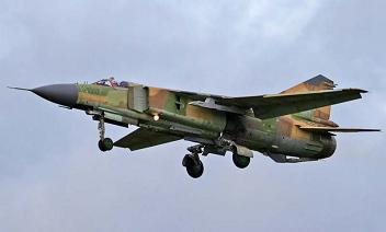 Фронтовой истребитель миг-23м.