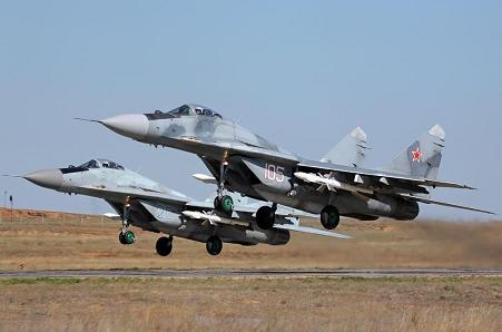 Фронтовой истребитель миг-29 (9-12).