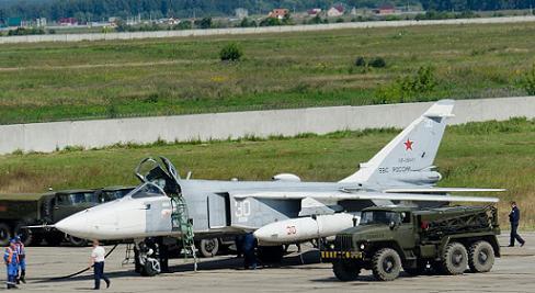 Фронтовой самолет-разведчик су-24мр.