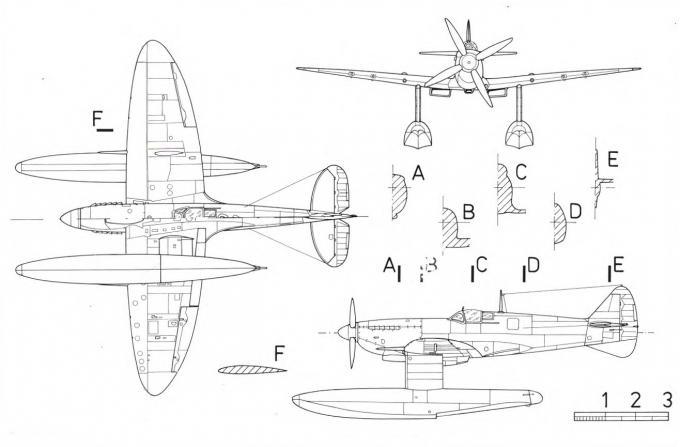 Гидросамолеты-истребители supermarine spitfire mk.v spitfire floatplane mk.ix. великобритания