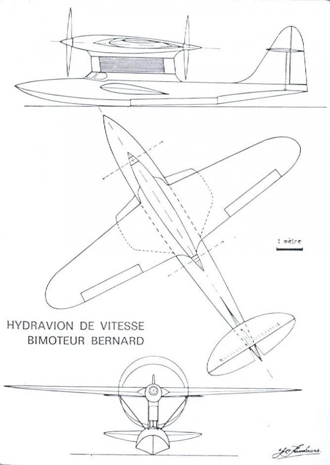 Гоночные гидросамолеты французской компании bernard. часть 7