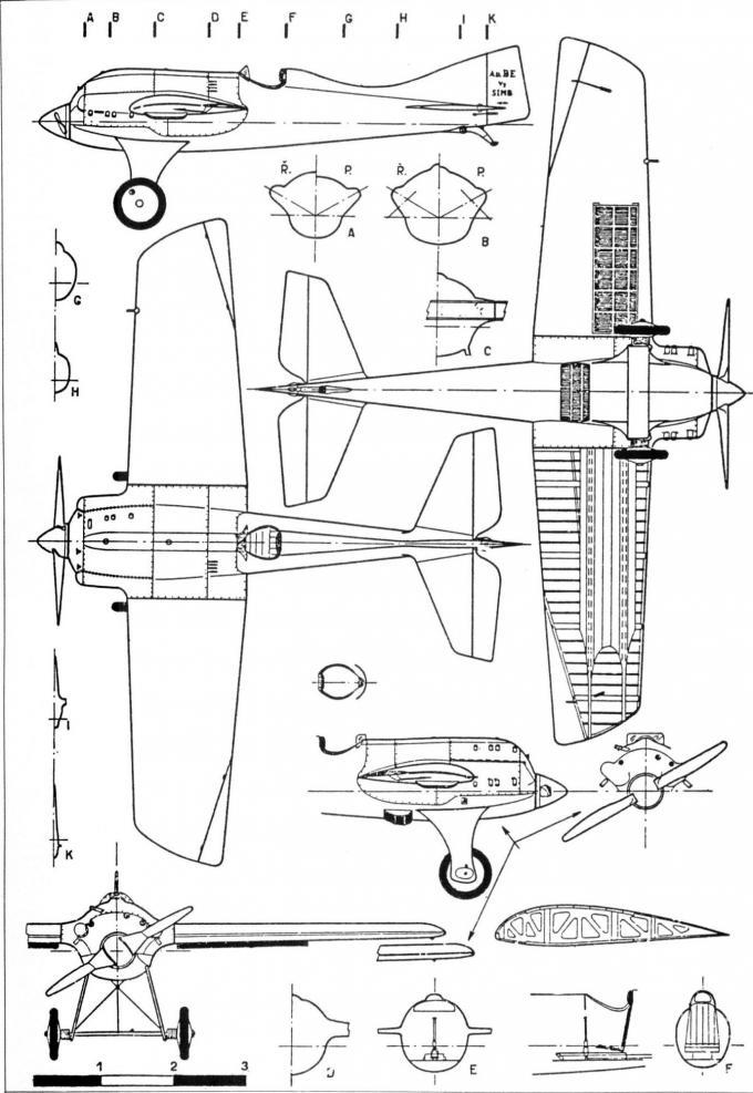 Гоночные и рекордные самолеты компании bernard. часть 2 рекордный самолет simb v-2