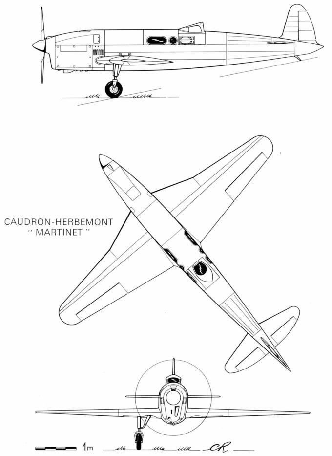Гоночный самолет caudron-herbemont 366 martinet. франция