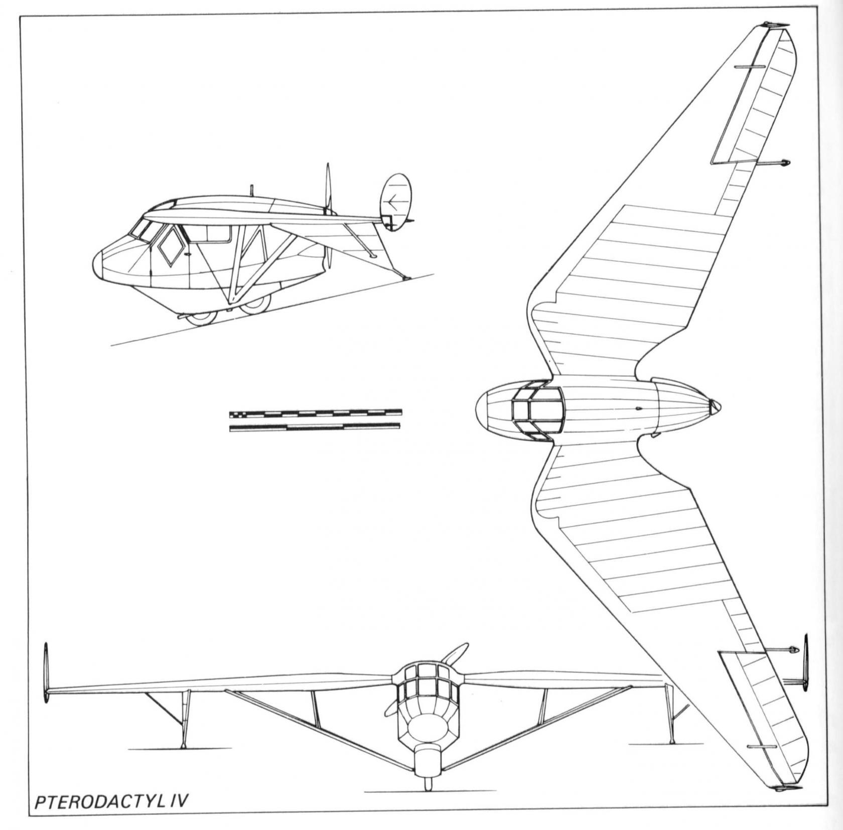 История птеродактилей. опытный экспериментальный самолет westland pterodactyl iv. великобритания