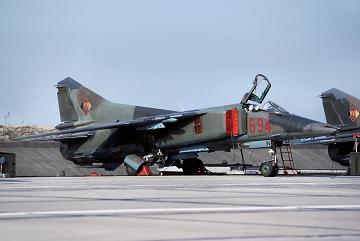 Истребитель-бомбардировщик миг-23бн.