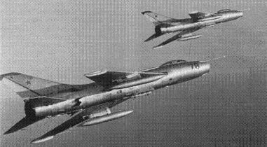 Истребитель-бомбардировщик су-7бм.