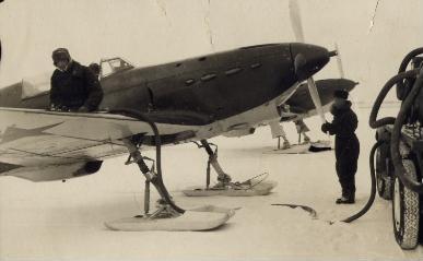 Истребитель як-1 (зимний).
