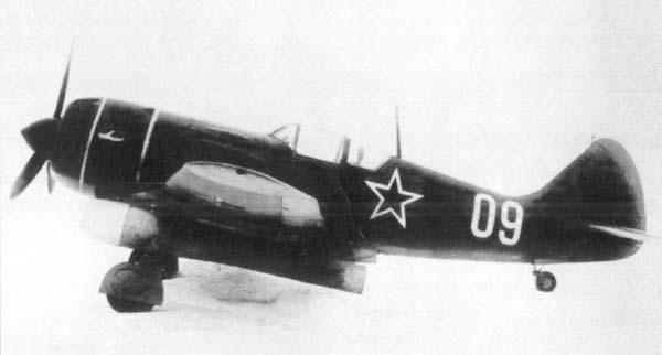Истребитель ла-9рд.