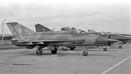 Истребитель-перехватчик миг-21с.