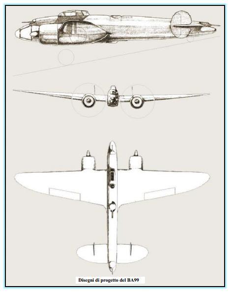 Итальянские бумажные проекты. проект среднего бомбардировщика breda ba.99. италия