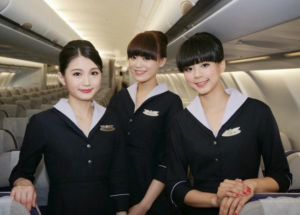 Японские стюардессы. японские бортпроводницы.