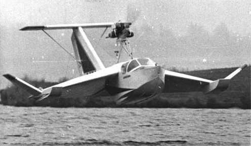 Экранолетный спасательный катер-амфибия эска-1.