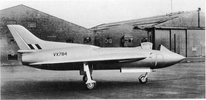 Экспериментальные самолеты avro 707. великобритания