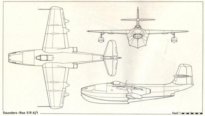 Экспериментальный истребитель-летающая лодка saunders-roe sr.a/1. великобритания