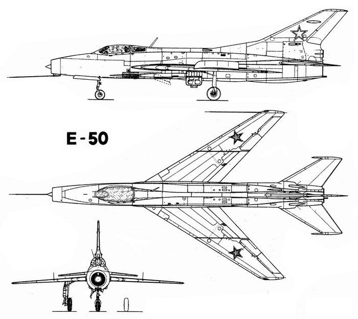 Экспериментальный истребитель-перехватчик е-50.