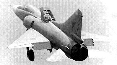 Экспериментальный истребитель с увп миг-23пд.