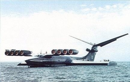 Экспериментальный экраноплан км (корабль-макет).