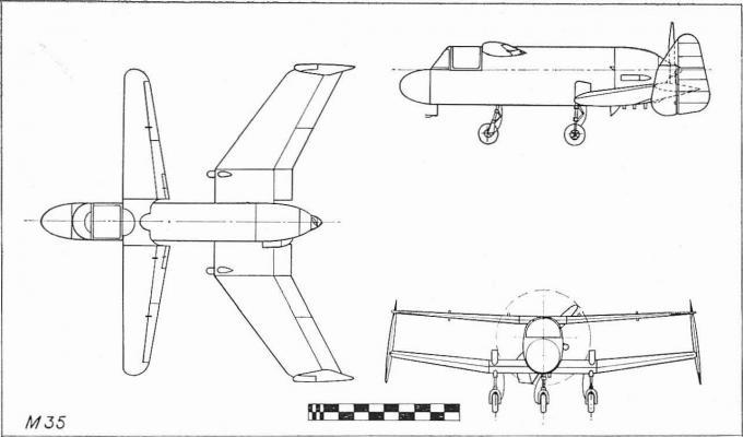 Экспериментальный самолет m.35 libellula. великобритания