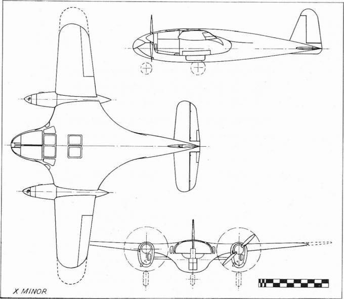 Экспериментальный самолет miles m.30 x minor. великобритания